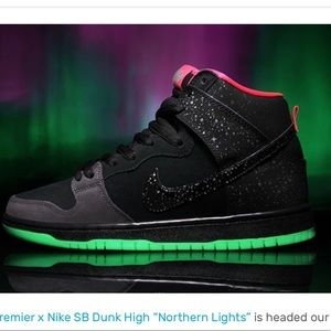 """Brand new in box Nike dunk high """"Northern Lights"""""""